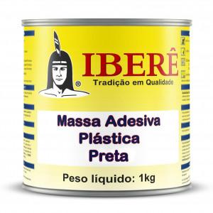 Massa adesiva Plástica Preta - 1Kg